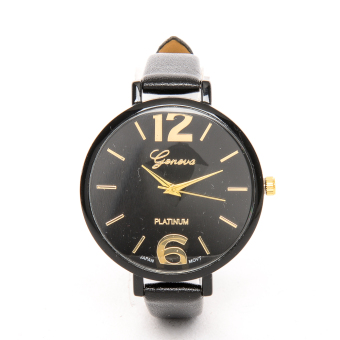 Harga Slim Chick Leather Strap Watch Black