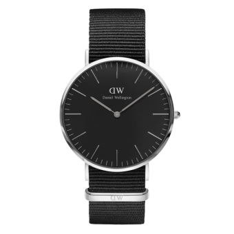 DANIEL WELLINGTON CLASSIC BLACK 40MM CORNWALL MEN'S WATCH SILVER WATCH Price Philippines
