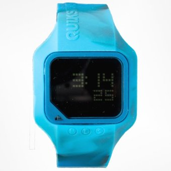 Harga QuikSilver Rubb Men's Blue Silicone Strap Watch MQM167DS-CBLU