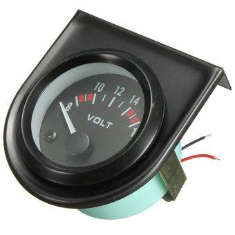 Harga 2 52mm Universel 8 -16V LED Voltmハtre Tension Gauge Tableau Manometre Voiture