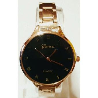 Hot Sale Geneva Lady's RoseGold Black Watch, Slim Watch Price Philippines