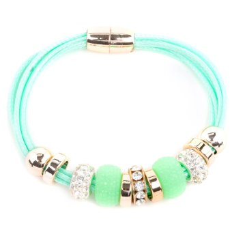Athena & Co. Melrose Leather Bracelet (Green) Price Philippines