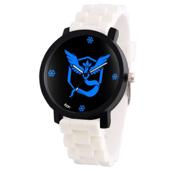 POKEMON GO Team Mystic Pokemon Trainer Rubber Strap Anime Watch (Black/White) Price Philippines