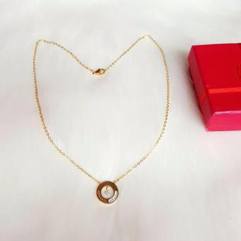 Harga Valentino Collection bvlgari round necklace