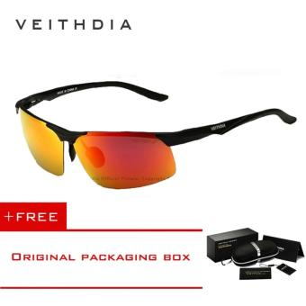 VEITHDIA Aluminum Magnesium Polarized Sunglasses Men Sports Sun glasses Night Driving Mirror Male Eyewear Accessories 6502 (Orange) - intl Price Philippines