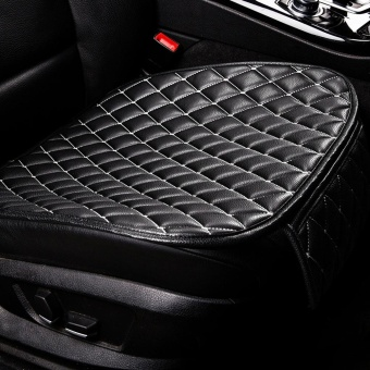 Universal Four Season Skid Resistance Car Seat Cushion Vehicle Single-seat Mat(WHITE AND BLACK)(...) - intl Price Philippines