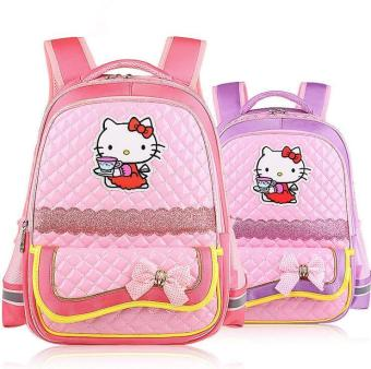 Korean Version Cute Cartoon Hello kitty Children's School bags Fashion Kids Shoulder Schoolbags Mochila Infantil - intl Price Philippines