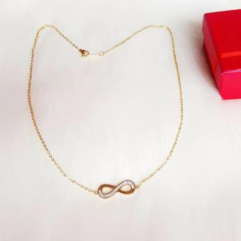 Harga Valentino Collection Infinity crystal necklace