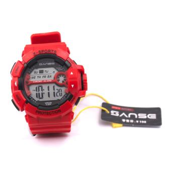 Sanse Water Resistant Uni-sex Watch TPU resin Strap-634 Red Price Philippines