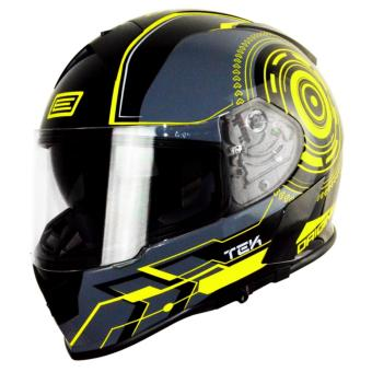 Harga Origine Italy Full Face OR 00083 GT TEK YELLOW FLUO HELMET (2017 Collection) - XXL