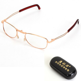 Harga Fold Up Folding Rimmed Foldable Reading Glasses Compact w/Case +1.0