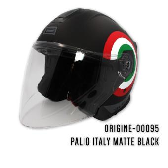 Harga ORIGINE 00095 Palio Italy Matte Black Open Face Helmet (2017 Collection) - XL