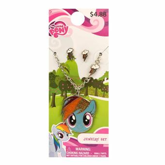 Harga My Little Pony Rainbow Dash Stud Earrings & Pendant Necklace Jewelry Set