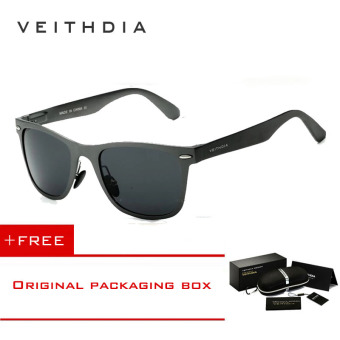 VEITHDIA Aluminum Men's Polarized Mirror Sun Glasses Male Driving Fishing Outdoor Eyewears Accessories Sunglasses For Men 2140(Grey) [ Buy 1 Get 1 Freebie ] Price Philippines