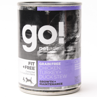 Go Natural Grain Free Canned Chicken Duck Turkey Wet Can Dog Food 13.2oz (6 cans / box)