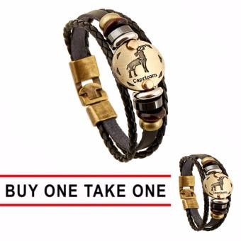GMY Buy One Take One Men and Women Zodiac Sign Leather Bracelet (Capricorn) Price Philippines