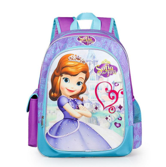 Hely TOP Kids Girls High-capacity Cute Cartoon Backpack Sofia Schoolbag Casual Outdoor Bag (Purple) - Intl Price Philippines