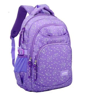 Harga Lovely Cartoon Girls Backpack School Bookbag Daypack Book Bags (Purple)