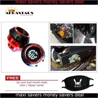Harga Motorcycle Axle Nut Cover Axel Nut Universal Cap Red Orange Modified for Yamaha Vega Force i