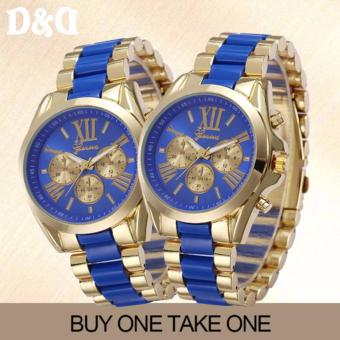 GENEVASY-10 Women's Two-Tone Stainless Steel Strap Watch Buy One Take One Price Philippines
