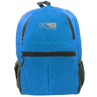 MV Unisex Travel Foldable Backpack (Blue) Price Philippines