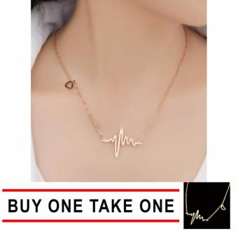GMY Buy One Take One Luxury Gold HeartBeat Necklace Price Philippines