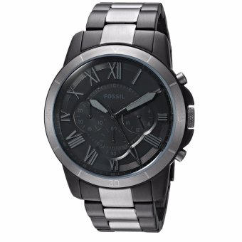 Fossil Original FS5269 Men's Grant Sport Black Stainless Steel Watch - intl Price Philippines