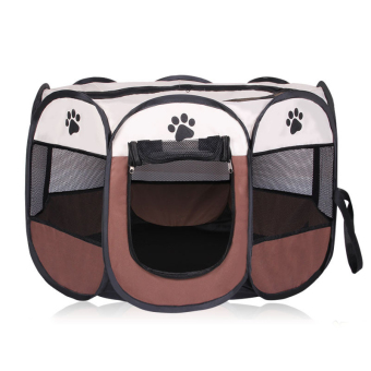 Harga Pet Dog Bed Kennel Play Pen Soft Playpen Cage Folding Crate Brown – L Size