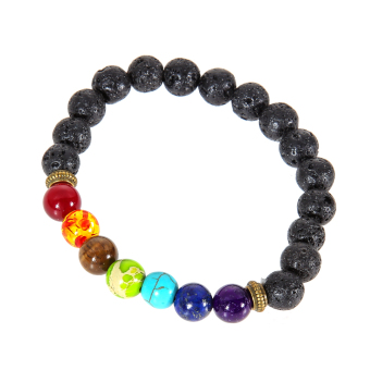 Multicolor Lava Rock Beads String Stretchy Bracelet Price Philippines