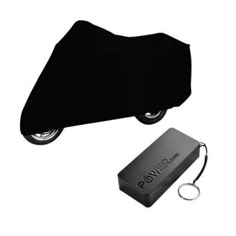 Harga Waterproof Motorcycle Cover (Black) and with 5600mah Powerbank (Black)
