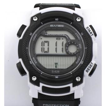 Sanse Water Resistant Uni-sex Watch TPU resin Strap-626 Blak / White Price Philippines