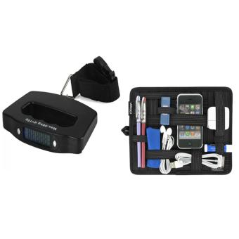 Electronic Luggage Scale (Black) With Elasticity Grid It Organizer System Price Philippines