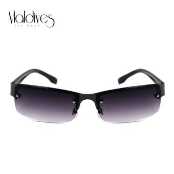 Harga Maldives M-22-Y Landon Rectangular Rimless Men Fashion Sunglasses (Gradient Black/Gunmetal)