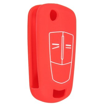 Harga Button Silicone Remote Key Cover Fob for Vauxhall Opel (Red)