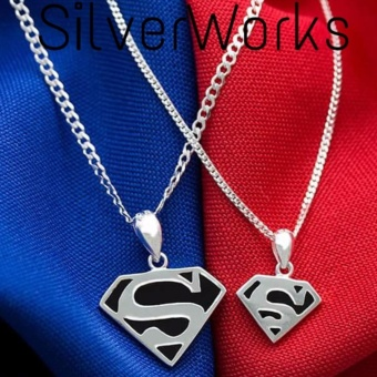 Harga Silverworks Father & Son Superman Necklace (925 Silver)