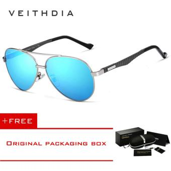VEITHDIA Fashion Unisex Aluminum Men Sun Glasses Polarized Mirror Male Eyewear Sunglasses For Wommen 3850 [ Buy 1 Get 1 Freebie ] - intl Price Philippines