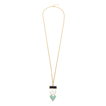 Athena & Co. Aries Necklace (Gold/Turquoise/White) Price Philippines