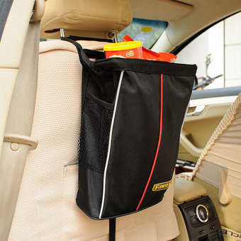 Large Volume Car Back Seat Hanging Storage Bag Organizer Pockets Holder Vehicle/Food/Bottles for kids(Black)