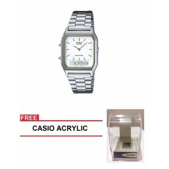 Casio Youth Series Men Silver Stainless Steel StrapWatch AQ-230A-7DMQ (FREE CASIO ACRYLIC) Price Philippines
