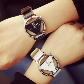 2pcs jis Hollow Out Men's Women's Couple Triangle Quartz Watches Valentine's Day Memory Gift Black White Price Philippines