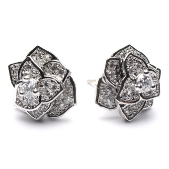 Athena & Co. Amanda Flower Earrings (Silver) Price Philippines