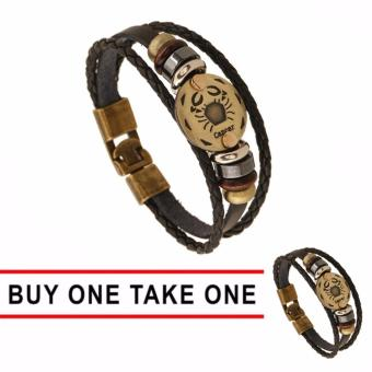 GMY Buy One Take One Men and Women Zodiac Sign Leather Bracelet (Cancer) Price Philippines