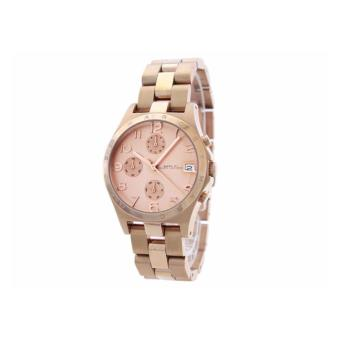 Harga MARC BY MARC JACOBS Henry Chronograph Rose Dial Rose Gold Ion-plated Ladies Watch