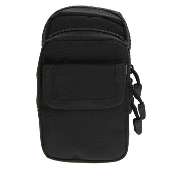 Bang Multi-Function High Density Strong Nylon Fabric Waist Bag /Camera Bag / Mobile Phone Bag, Size: 9.5 X 18.5 X 8Cm(Black)&Nbsp; - intl Price Philippines