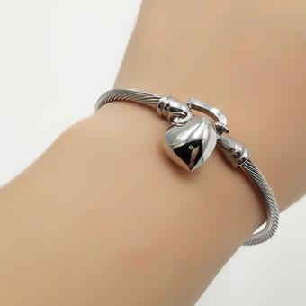 Harga Fantasy Whole Heart Dangling Stainless Bangles AC1008