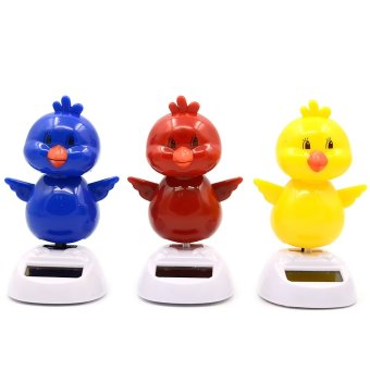 Harga Swing Solar Powered Dancing Toy For Car Home Decoration With Hold Sticker Chick Random Color