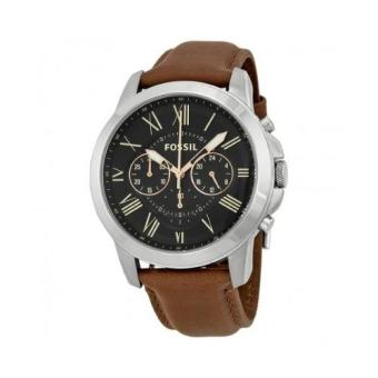 Fossil Grant Chronograph Black Dial Brown Leather Men's Watch FS4813 Price Philippines