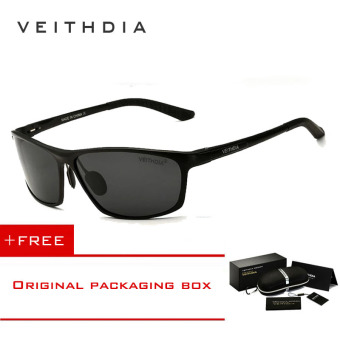 VEITHDIA Brand Polarized Aluminum Magnesium Wrap Men's Sun glasses Male Sport Outdoor Sunglasses Mirror Eyewear For Men 6520 ��Black�� [ Buy 1 Get 1 Freebie ] Price Philippines
