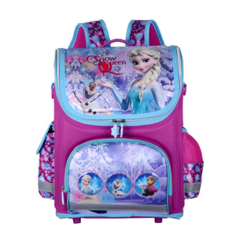 Hely TOP Kids Girls Cartoon Schoolbag High Quality Primary School Pupils Backpack (Elsa & Anna) - Intl Price Philippines