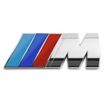 Car-styling M Power Logo Metal Car Sticker Rear Trunk Emblem Grill Badge For BMW Price Philippines